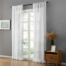 Solid White Tulle Sheer Window Curtains For Living Room Bedroom Modern Organza