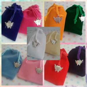 ❤ TOOTH FAIRY GIFT POUCH ❤ 11 COLOUR CHOICES ❤ FREE P & P ❤