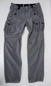 "Armani Exchange AX Mens Combat Trousers, W34"" Grey, GC"