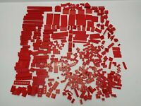 Vintage Lego Red Pieces Mixed from Various Sets Approx 420 Grams - Pre-owned