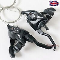 New Shimano ST-EF51 GEAR Shifter/Brake Lever 3 x 7,8 Speed or Set Black V-Brake