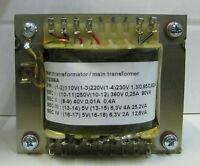 Netztrafo für den Röhrenverstärker AMP2 und AMP5