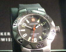 Wenger 093.0444 Swiss Army Black Face Ladis Sport SMT Desing Black Ruber Band