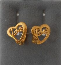 Children 18k  gold Filled Small Love Heart Hoop earring