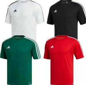 adidas Boys Estro T-Shirt Tee Kids Football Sports Training PE Top Jersey Junior