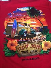 Ron Jon Surf Shop M Shirt Orlando Fl Red / Off The Map Is Where It's At / Beach
