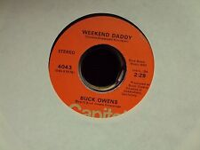 """BUCK OWENS 41st Street Lonely Hearts' Club/Weekend Daddy 7"""" 45 mid-70's country"""