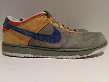 2013 Nike Dunk Low Premium SB Puff N Stuff Green Blue Yellow Size 12 573901 002