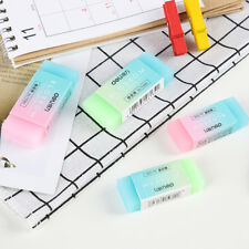 2Pcs/Set Pencil Rubber Erasers Candy Color Soft Durable Flexible Cube Stationery