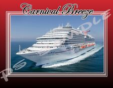 CARNIVAL CRUISE LINE (any ship) - Travel Souvenir Flexible Fridge Magnet