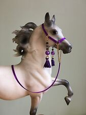Traditional Scale Purple Hollywood Style Arabian Model Horse Halter For Breyer
