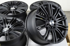 16 5x100 5x114.3 Matte Black Rims Fits Civic Accord Eclipse Altima 5 Lug Wheels