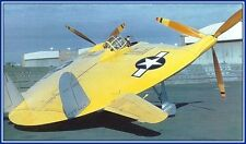 RC Plans CHANCE-VOUGHT V-173 FLYING FLAPJACK Electric span 36""