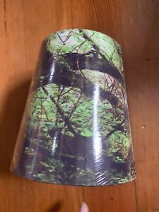 Ikea Stycke 14cm Lampshade With Green Forest Photo Print. NEW IN PLASTIC