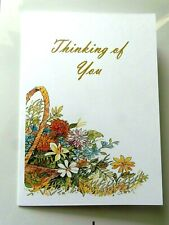 THINKING OF YOU CARD wild flowers card.
