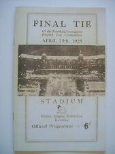 1925 FA Cup final programme,Ticket & free teamsheet Cardiff City v Sheffield Utd