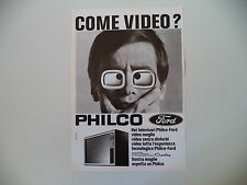 advertising Pubblicità 1970 TELEVISORE PHILCO FORD