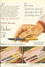 1949 Parker 51 Aero-metric Pens Original Vintage Print Pen Ad