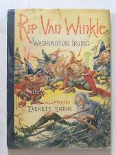 RIP VAN WINKLE by WASHINGTON IRVING 1939 W/DJ  1st ILLUSTRATED by EVERETT SHINN