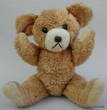 Jestia Japan Teddy Bear Vintage c1960s Jointed Cotton Pile Plush Glass Eyes 12in