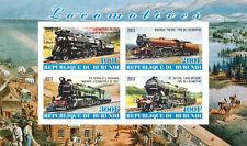** Locomotives Trains Railroads - s /s  Burundi  2011 mint MNH IMPERF   #D026