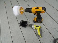 REVOLVER & BULLET POWER SCRUB DRILL BRUSH COMBO - HOME/BOAT ACTUAL MANUFACTURER!