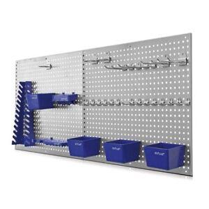 Werkzeugwand Lochwand mit Hakensortiment Werkstattwand Werkzeughalter 32 tlg.