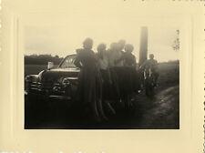 PHOTO ANCIENNE - VINTAGE SNAPSHOT - VOITURE MOTO CONTREJOUR SILHOUETTE - CAR