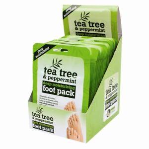 Tea Tree Peppermint Deep Moisturising Foot Pack Treat Cracked Heel Callus Foot