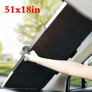 Retractable Car Auto Window Sun Shade Visor Windshield Roller Blind 46cm x 130cm