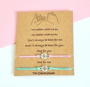 Set Of 2 Pinky Promise Best Friend Friendship Compass Bracelet Couples Gift