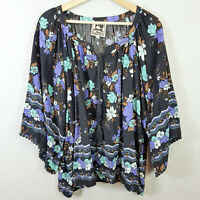 JAASE | Womens Floral Blouse Top - Oversized [ Size M or AU 12 / US 8 ]