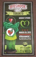 Bioshock Infinite Midnight Release Poster Toronto Lithograph Limited Rare Promo