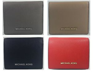 New Authentic Michael Kors Women's Jet Set Travel Leather Card Wallet CLEARANCE