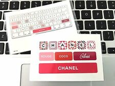 CHANEL VIP Gift Computer Laptop Notebook Keyboard Sticker Rouge Coco Gloss NEW