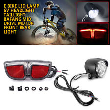 E Bike LED Lamp 6V Headlight Taillight BAFANG Mid Drive Motor Front Rear Light
