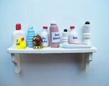 Dolls House Miniature 1:12th Scale Bathroom Shelf With Toothpaste