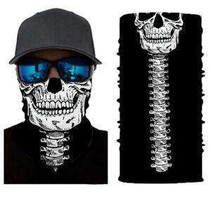 Balaclava Cycling Neck Tube Scarf Snood Biker Face Mask Spine Skull