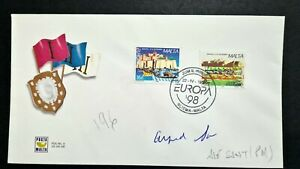 1998 Malta EUROPA FDC SIGNED BY Former Prime Minister A.Sant