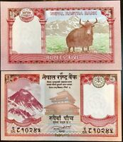 Nepal 5 Rupees 2017 UNC Yak Full bundle Lot 100 PCS P-NEW
