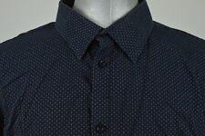 Ben Sherman Modern Slim Fit Black Blue Polka Dot Button Down Size 5, XXL