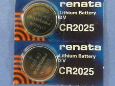 Renata  CR2025 Lithium 3V Swiss Made  Battery ,2 Pc