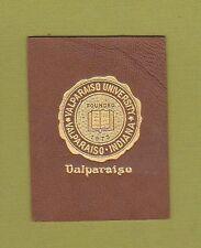 c1910 tobacco/ college leather L series Valapraiso University #5 Nice.