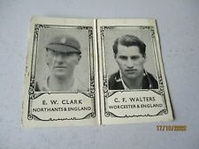 Barratt Famous Cricketers E W Clark Northamptonshire & C F Walter Worcestershire