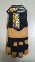 Midwest Gloves and Gear MX410-M-AZ-6 Max Performance Goatskin Work Gloves, Med