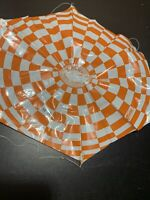 Estes Alpha Lot Of 8 Orange Model Rocket Parachutes 12""