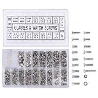 1000Pcs Stainless Steel Eyeglasses Watch Repair Screw Replacement Kit Set T B3C1
