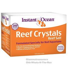 Sea Salt Aquarium Mix Instant Ocean Fish Tank Reef Crystals Coral Algae 200 Gal