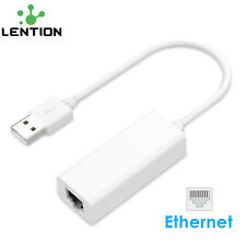 LENTION USB 2.0 Type-A to Ethernet RJ45 Network Adapter for Windows Mac OS