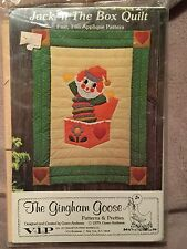 1979 The Gingham Goose Jack N The Box Quilt Appliqué Sealed